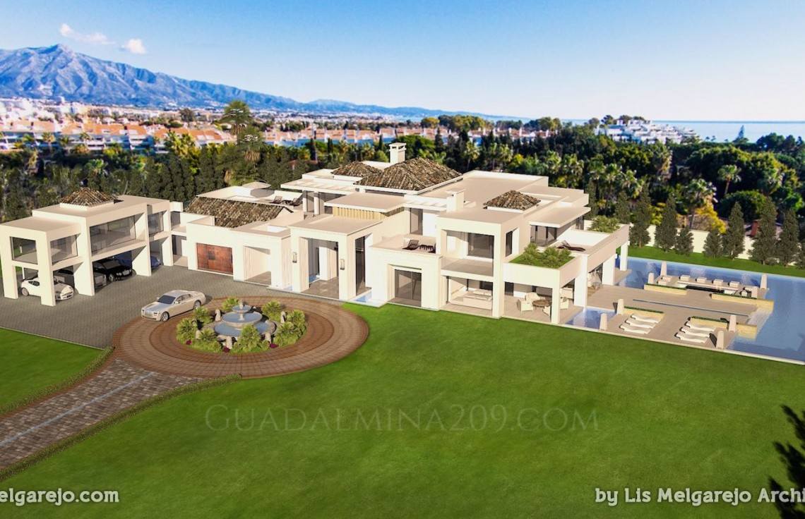 Marbella mansions for sale > Guadalmina 209 > Mansion view
