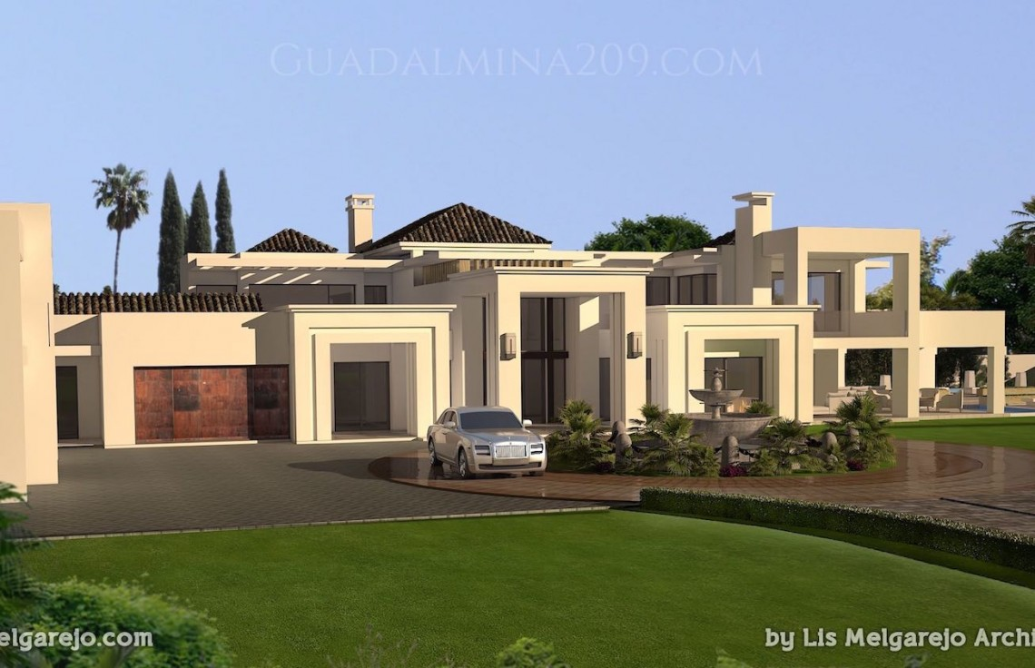 Marbella mansions for sale > Guadalmina 209 > Mansion facade