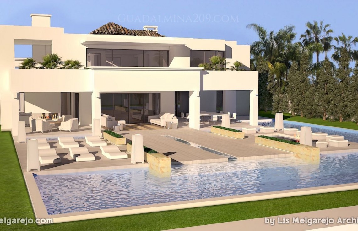 Marbella mansions for sale > Guadalmina 209 > Mansion pool area